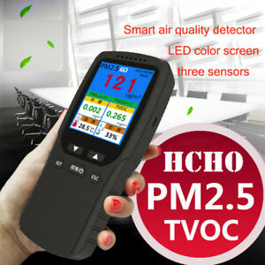 Pm2 5 Pm10 Hcho Tvoc Aqi Air Quality Detector Tester Monitor Formaldehyde Tester