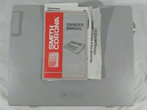 Smith Corona Electric Typewriter Xl 1000 5a W Cover Manual Tested