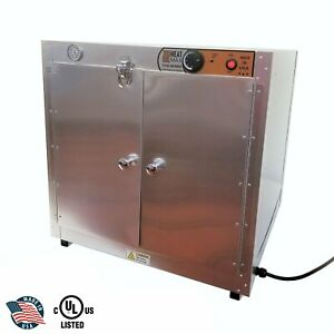 Heatmax Commercial Countertop Hot Box Warmer With Water Tray 24x24x24 Display