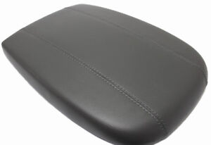 Fits 98 02 Ford Expedition Gray Vinyl Leather Center Console Lid Armrest Cover
