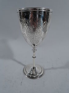 Victorian Goblet Antique Modern Gothic English Sterling Silver Unite 1864