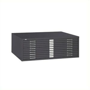 Scranton Co 10 Drawer Metal Flat Files Cabinet For 30 X 42 Documents In B