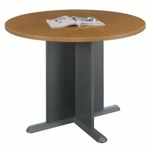 Scranton Co Round Conference Table In Natural Cherry