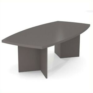 Scranton Co 8 Boat Shaped Light Board Top Conference Table In Slate