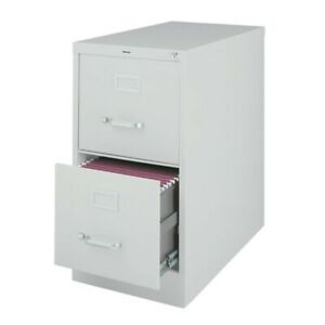 Scranton Co Vertical Files 2 Drawer Letter File Cabinet In Gray