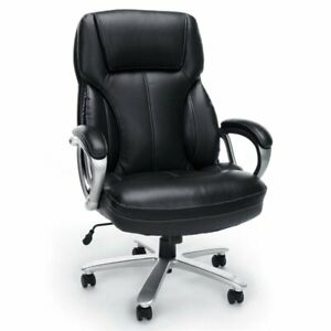 Scranton Co Big And Tall Leather Swivel Office Chair In Black