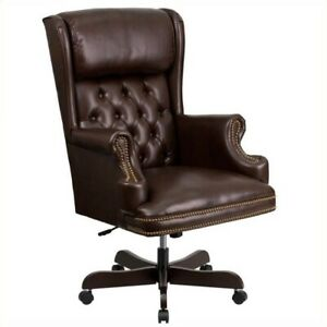 Scranton Co High Back Upholstered Executive Office Chair In Brown