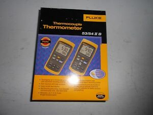 Brand New Fluke 54 Ii B Dual Input Digital Thermometer With Data Logging