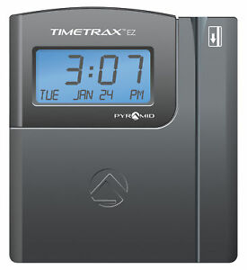Pyramid Time Trax Ttez Automated Swipe Card Time Clock System ethernet