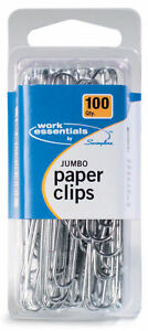 Workessentials 100 Count Jumbo Paper Clip Set Of 4