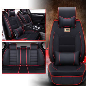 11part Auto Seat Cover Set For Car Sedan Van Universal Seat Cover Pu Leather Ups