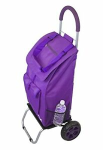 Trolley Dolly Purple Shopping Grocery Foldable Cart Carts Baskets Retail