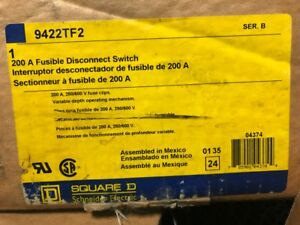 Square D Fusible Disconnect Switch 200 Amp 9422tf2