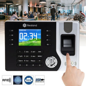 12in1 Realand Biometric Fingerprint Time Attendance Clock Tcp ip Usb Lcd Display