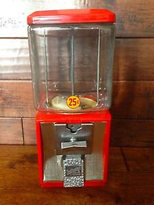 Vintage Glass Northwestern Model 60 Gumball Candy Toy Nut Bulk Vending Machine