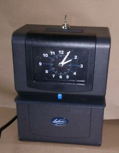Lathem Time Heavy duty Time Clock Mechanical Charcoal 4006 With Key 4000 Series