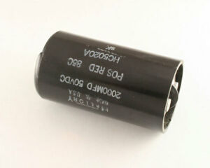 Mallory 2000uf 50v Large Can Electrolytic Capacitor Hc5020a