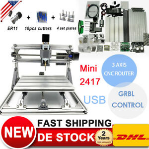 Usb 3axis Diy 2417 Pcb Cnc Router Kitengraving Machine Laser Engraver Cutter 60w
