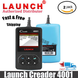 2pcs Launch Diy Creader Cr4001 Diagnostic Scan Tool Code Reader Full Obd Update