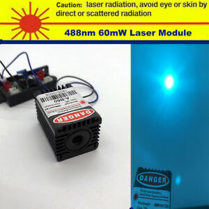 Sharp 488nm 60mw Mint blue Laser Module built By 488nm Laser Diode ttl