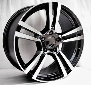 20 Turbo 2 Style Black Machine Wheels And Tire Pkg Porsche Cayenne 5x130