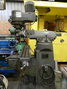 83 Supermax bridgeport Type Mill Model 1 1 2 Vs S n 1210738 9 X 42 Table