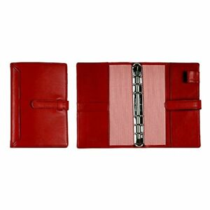 leather System Notebook Cover Bible With A Belt Royal Red Business Leat P o