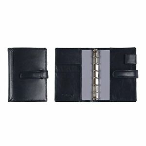 leather System Notebook Cover Pocket With A Belt Black Navy Business Le P o