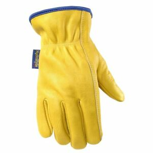 Water Resistant Leather Work Gloves Grain Cowhide Palm Patch Hydrahyde Extra