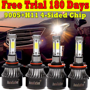 9005 h11 Cree Led Car Headlight Bulbs Hi Or Low Beam For Ford F 150 2004 2014