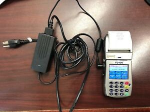 First Data Fd400ti Wireless Credit Card Reader W Battery Touch Screen