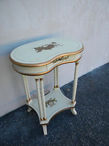 French Painted Kidney Shape Small Side Table 5362