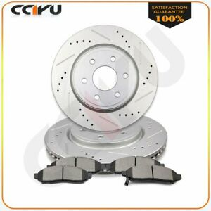 For Suzuki Equator Front Drilled Slotted Brake Rotors And Ceramic Pads