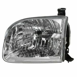 For 2001 2002 2003 2004 Toyota Sequoia Lh Driver Side Left Headlamp Headlight