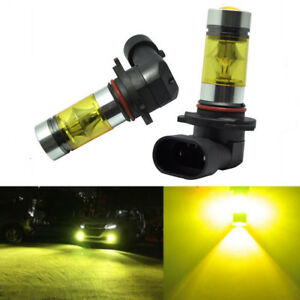 2x 9006 Hb4 3000k Yellow 100w High Power Cree Led Fog Lights Driving Bulb Drl