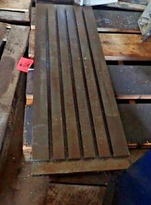 48 75 X 15 875 X 2 5 Steel Weld T slot Table Cast Iron Layout 5 Slot Jig