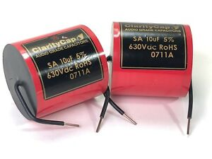 Clarity Cap 10uf 630vac Capacitors Nos Two Units