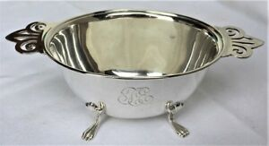 Elegant Antique Vintage Sterling Silver Footed Bowl Dish Animal Paw Feet Meriden