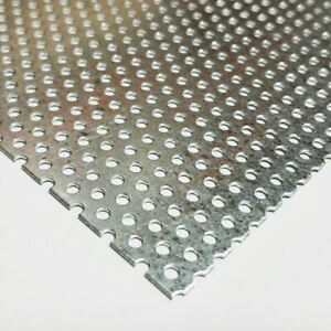 Galvanized Steel Perforated Sheet 034 X 24 X 36 3 32 Holes 3 16 Centers