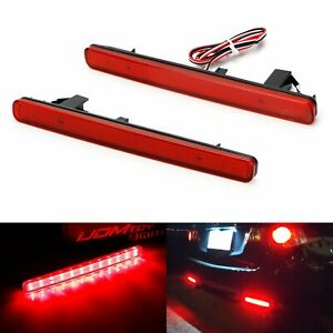 Red Lens 48 smd Led Bumper Reflector Marker Lights For 2009 2014 Acura Tsx