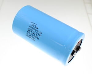 Cde 40000uf 50v Large Can Electrolytic Capacitor Fah40000 50 d6