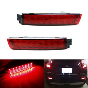 Red Lens 48 Smd Led Bumper Reflector Marker Lights For Infiniti Fx35 Fx50 Nissan