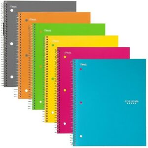 Five Star Spiral Notebooks 1 Subject College Ruled Paper 100 Sheets 11 X 6
