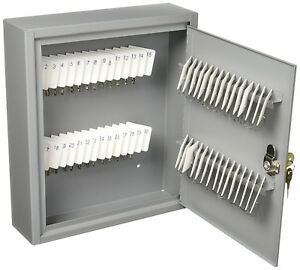 Steel Key Cabinet Metal Security Box Lockable Home Office Wall Mount 60 Keys