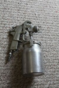 Snap on Spray Gun Bf501 With Canister Bf503 Professional Auto Paint Siphon Vtg