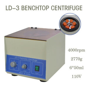Hot 6 50ml Ld 3 Electric Benchtop Centrifuge Lab Medical Practice 4000rpm
