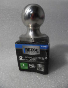 Reese Towpower Stainless Steel 2 Inch Hitch Ball 6000lb Capacity 7011320