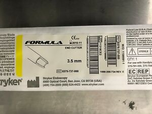 Stryker Endoscopy Blades 0375 737 000 Lot Of 5 Boxes Expired