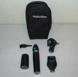 Welch Allyn Lithium ion 3 5v Otoscope Ophthalmoscope Diagnostic Kit 71900