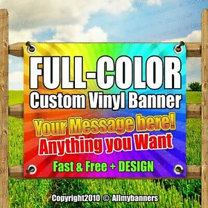 5 X 15 Custom Vinyl Banner 13oz Full Color Free Design Included Strong pxp